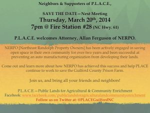 Come out and hear Allen Ferguson of NERPO speak.